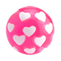 Balls & Replacement Ends, Threaded Ball – Hearts, Acryl