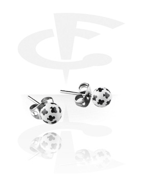 Kolczyki, Ear Studs, Surgical Steel 316L, Acrylic
