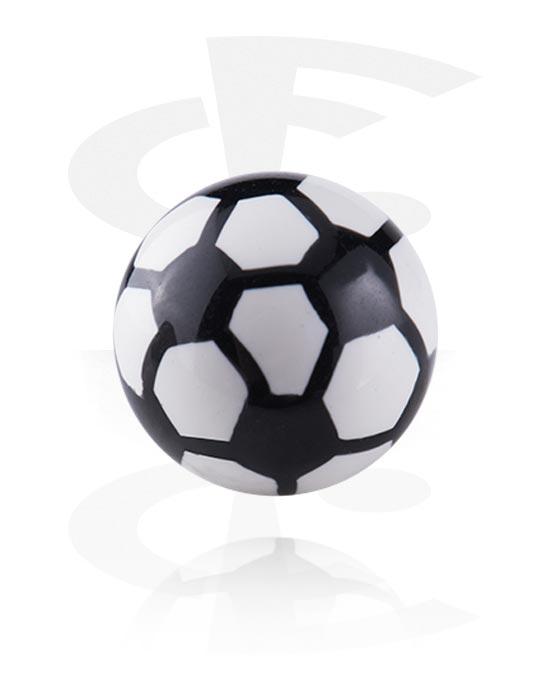 Kuličky, kolíčky a další, Kulička se závitem – fotbal, Acrylic