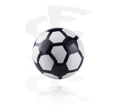 Шарик с резьбой в футбольном стиле
