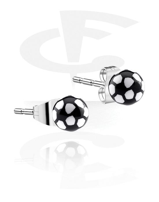 Náušnice, Ear Studs, Chirurgická ocel 316L, Akryl