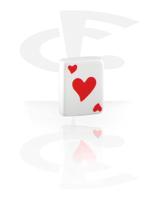 Kuličky, kolíčky a další, Hearts Playing Card, Acrylic