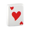 Balls & Replacement Ends, Hearts Playing Card, Acrylic