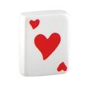 Boules et Accessoires, Hearts Playing Card, Acrylique
