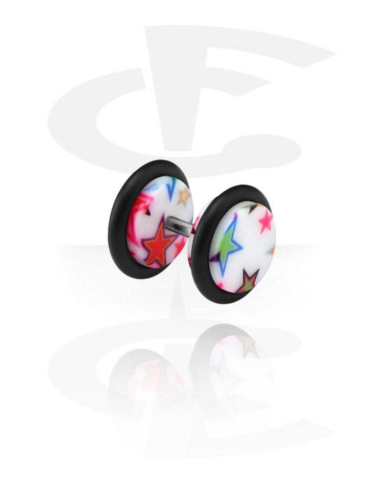 Fake Piercings, Fake Plug, Acryl, Chirurgenstahl 316L