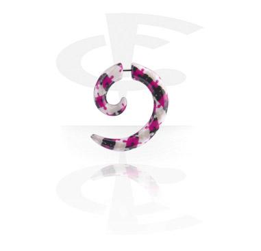 Falešné piercingové šperky, Fake Spiral, Acrylic