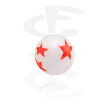 Kuličky a náhradní koncovky, Printed Ball, Acrylic