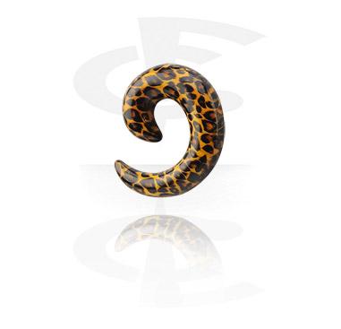 Spiraal met luipaardprint