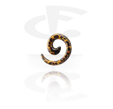 Espiral para alargar com desenho de leopardo
