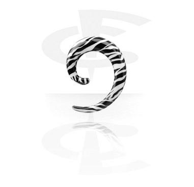 Spirale mit Zebrastreifen