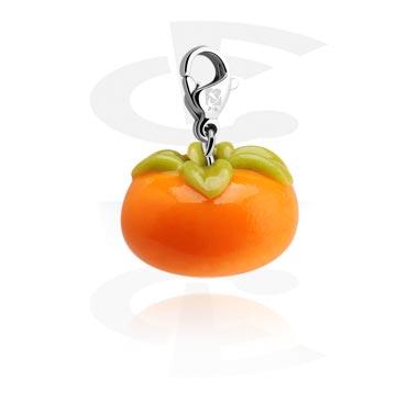 Bedelarmbanden, Bedel met Tomato, Chirurgisch staal 316L, Fimo