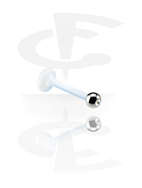 1.2 mm Labret met jeweled ball