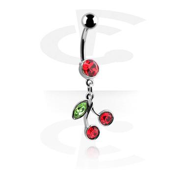 Zaobljena šipkica s privjeskom u obliku trešnje
