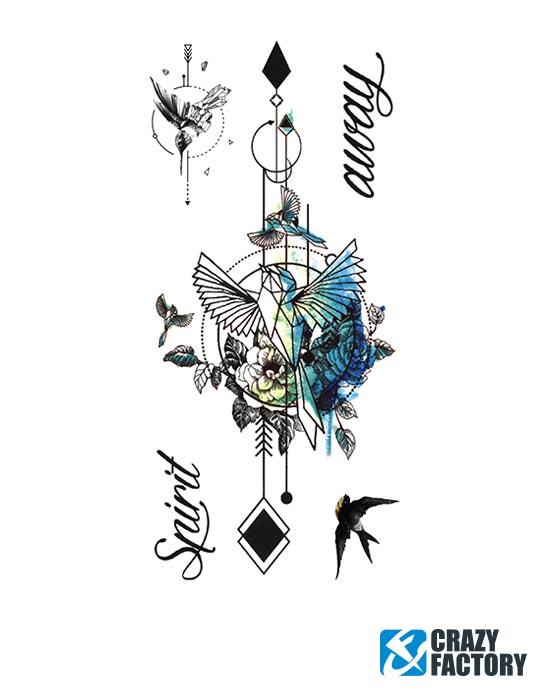Zabavne tetovaže, Fun-Tattoo , Transfer papir na bazi vode, Tinta
