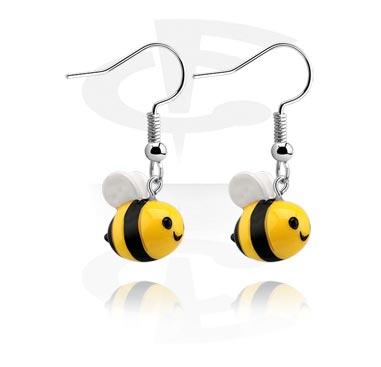 Naušnice s likom pčele