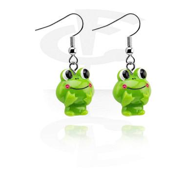 Boucles d'oreilles avec grenouilles