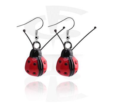 Naušnice, Earrings, Surgical Steel 316L, Acrylic