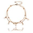 Bracelets de Cheville, Chaîne de cheville, Laiton plaqué or rose
