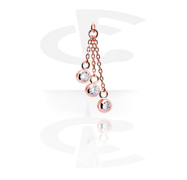 Balls & Replacement Ends, Charm, Surgical Steel 316L, Rosegold