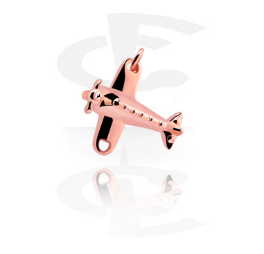Balls & Replacement Ends, Charm, Rosegold-Plated Brass