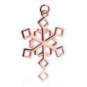 Kulki i inne zakończenia, Charm z Snowflake Design, Rosegold Plated Surgical Steel 316L