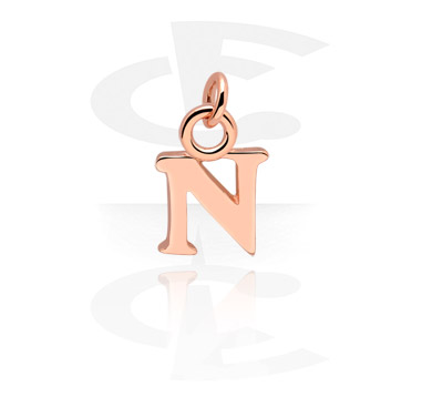 Balls & Replacement Ends, Charm, Rose Gold Plated Steel