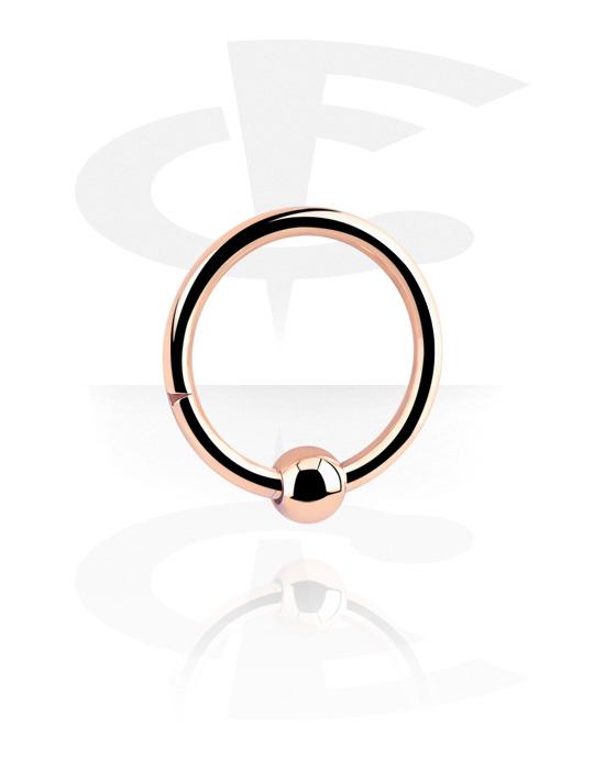 Renkaat, Hinged Continous Ring, Ruusukultapinnoitteinen kirurginteräs 316L