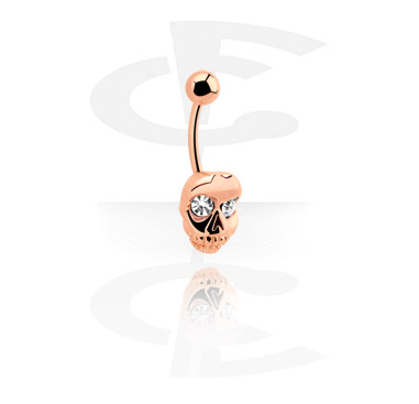 Curved Barbells, Fashion Banana, Surgical Steel 316L, Rosegold