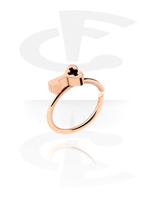 Kółka do piercingu, Continuous Ring, Stal chirurgiczna powlekana różowym złotem 316L