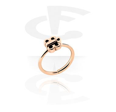 Piercing Rings, Continuous Ring, Rosegold Plated Steel