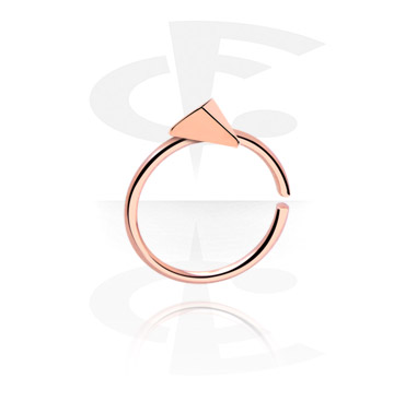 Piercing Rings, Continuous Ring, Rose Gold Plated Steel
