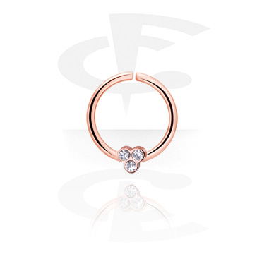 Piercingové kroužky, Continuous Ring, Rose Gold Plated Steel
