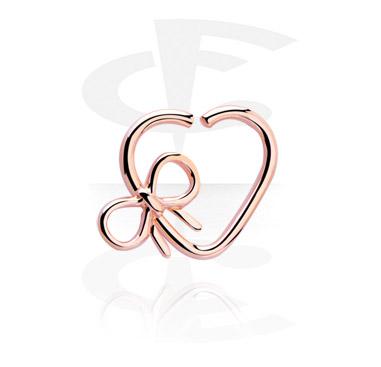 Кольцо для пирсинга в форме сердца