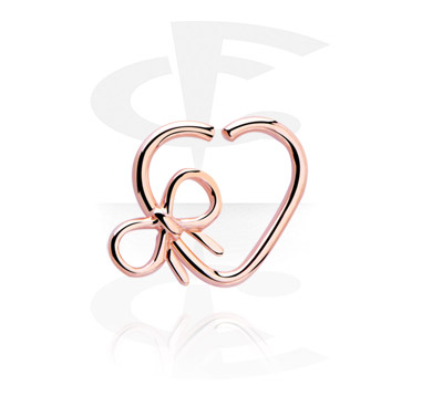 Continous ring com forma de coração