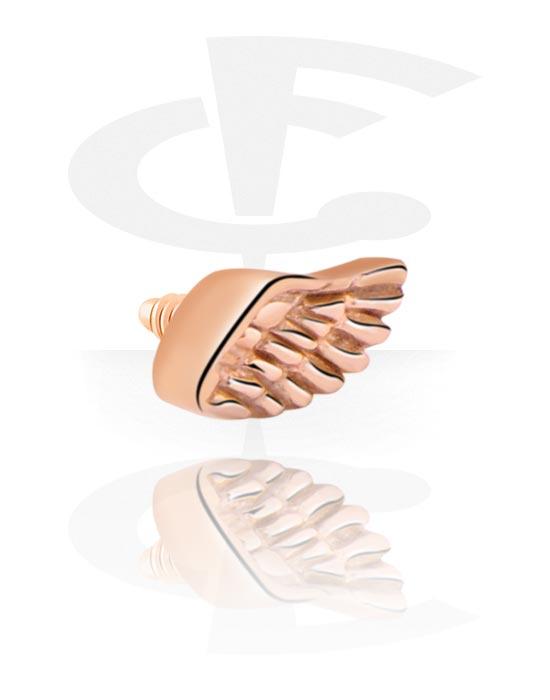 Kulki, igły i nie tylko, Attachment for 1.2mm Internally Threaded Pins, Stal chirurgiczna powlekana różowym złotem 316L
