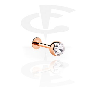 Labrets, Jewelled Labret, Rosegold Plated Steel