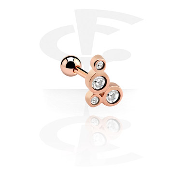 Helix / Tragus, Tragus Piercing, Rose Gold Plated Steel