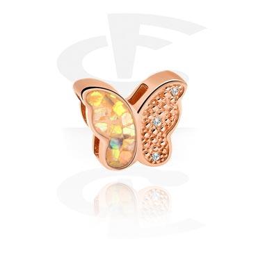 Perle plate pour bracelets à perles plates