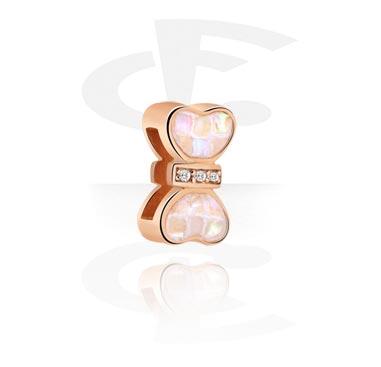 Flatbeads, Flat-Bead for Flat-Bead Bracelets, Rosegold Plated Steel