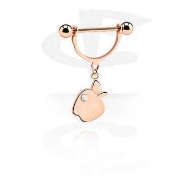 Bröstvårtepiercing med berlock