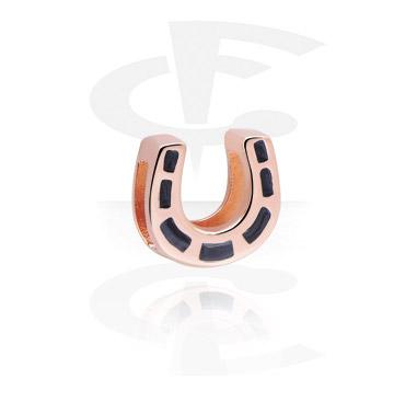 Perle plate pour bracelet à perles plates