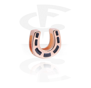 Flatbeads, Flat-Bead for Flat-Bead Bracelets, Rose Gold Plated Steel