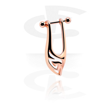 Helix / Tragus, Helix piercing, Rosegold Plated Surgical Steel 316L