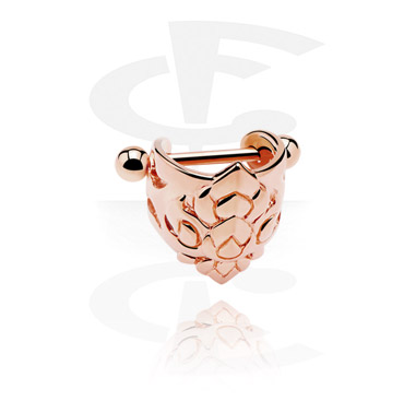 Helix / Tragus, Steel Cast Ear Shield, Surgical Steel 316L, Rosegold