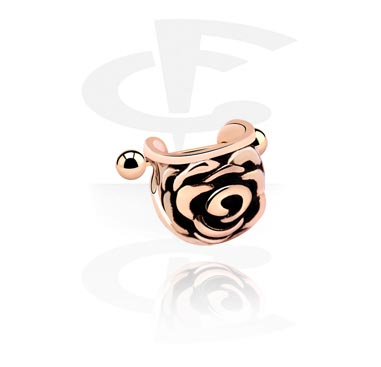 Helix / Tragus, Steel Cast Ear Shield, Rose Gold Plated Steel