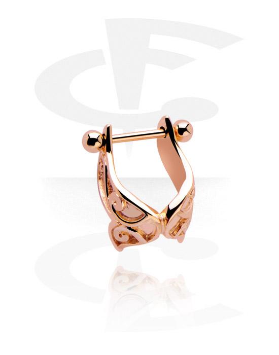 Helix / Tragus, Helix piercing, Stal chirurgiczna powlekana różowym złotem 316L