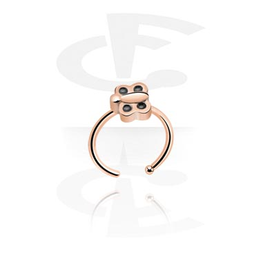 Nose Jewelry & Septums, Nose Ring, Rosegold-Plated Steel