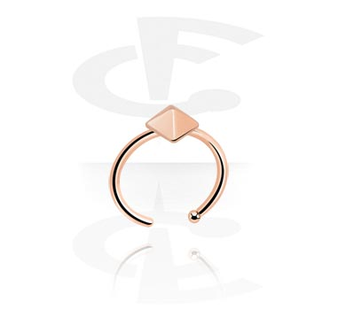 Nose Jewellery & Septums, Nose Ring, Rosegold-Plated Steel