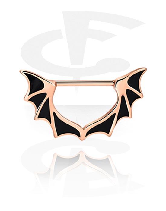 Biżuteria do piercingu sutków, Nipple Clicker, Stal chirurgiczna powlekana różowym złotem 316L