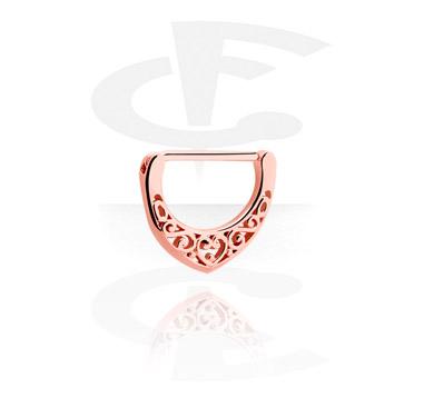 Bröstvårtspiercingar, Nipple clicker, Roséförgyllt kirurgiskt stål 316L